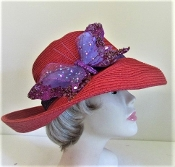 Blissful Butterfly Red Hat