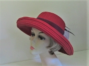 Big Bow Red Hat Ladies Red Hat