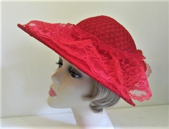 Lovely in Lace Red Hat Bonnet