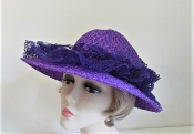 Penchant For Purple Bonnet Hat - Purple Hat