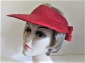 Sassy Straw Duckbill Visor - Red Hat Society Ladies