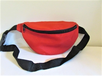 Waist Bag - Red Nylon - Red Hat Society Ladies