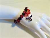 Bracelet - Red Hat Angel On Red and Purple Red Hat Lady Colors