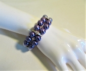 Bracelet Purple Pearl - Crystal - Red Hat Lady Bracelet
