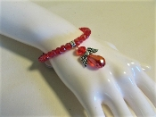 Bracelet - Red Angel Charm Especially Designed - Red Hatter