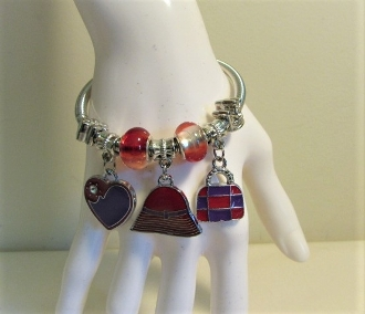 Bracelet - Pandora Style Red Hat Charm - Exclusive to MRHS