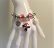 Bracelet - Pandora Style Red Hat Angel Charm - Exclusive to MRHS