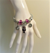Bracelet - Pandora Style Owl Charm - Exclusive to MRHS