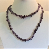 Necklace - Purple Natural Stone Infinity Rope