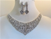 Crystal Necklace - Earrings