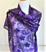 Beautiful Purple Rose Shawl - Shop Now!