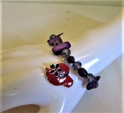 Bracelet - Red Hat Charm & Purple Stones Accessory- Exclusive