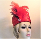 Red Hat - Stately Satin - Ladies Red Hat