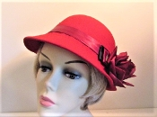 Red Hat - Fabulous Felt Bucket Style Red Hat