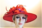 Red Hat - Frivolous Flower - Original Red Hat Colors