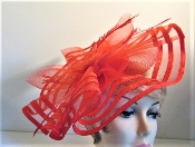 Flamboyant Facinator Red Hat Ladies Hattinator