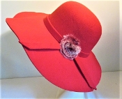 Red Hat - Flirty Felt Red Hat - Original Red Hat Colors