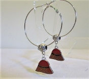 Hoop Earrings - Red Hat Charm - My Red Hat Store Exclusive