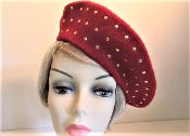 Red Wool Beret - Tam - Red Hat