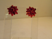 Earrings - Red Bow- Red Hatters Accessory