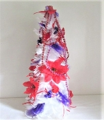 Red - Purple Feather Christmas Tree - Red Hat Society Ladies