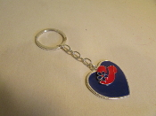 Red Hat Charm - Purple Heart Key Ring - Red Hatters