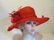 Obviously Organza Red Hat - Red Hat Ladies