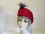 Red Felt Beguiling Beret - Trendy Beret Style Red Hat