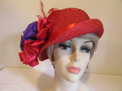 Fancy Flapper Red Hat - Red Hat Ladies
