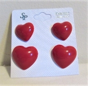 2 Pairs Red Heart Earrings- Red Hat Lady Jewelry