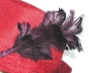 Purple Long Feather Pick - Red Hat Society Ladies Decor